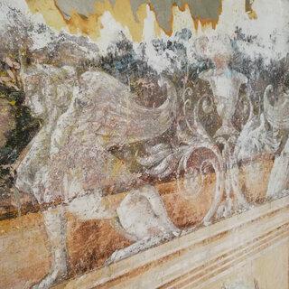 Restauration de peintures murales #chantierencours